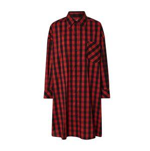 Ottod'Ame Košilové šaty 'CAMICIA'  černá / červená