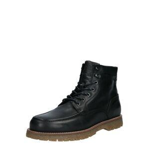 JACK & JONES Šněrovací boty  černá