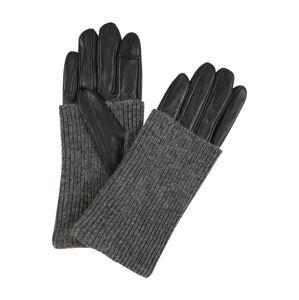 ONLY Prstové rukavice 'ONLROBBY'  černá / šedý melír