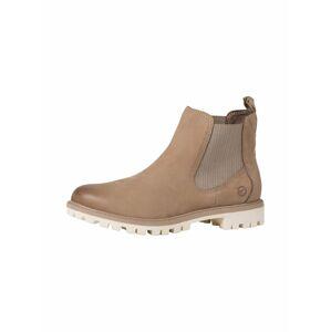 TAMARIS Chelsea boty  šedobéžová