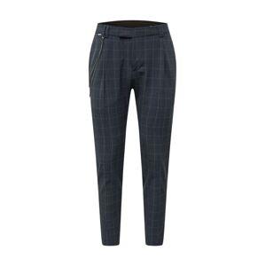 CINQUE Kalhoty se sklady v pase 'SANDRO'  tmavě šedá / světle žlutá