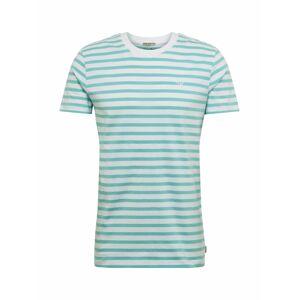 TOM TAILOR DENIM Tričko  bílá / aqua modrá