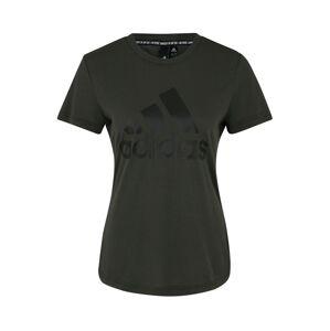 ADIDAS PERFORMANCE Funkční tričko  čedičová šedá / černá