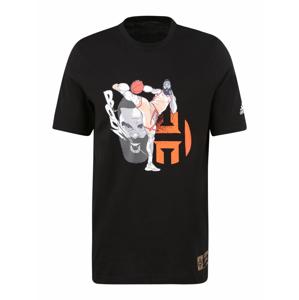 ADIDAS PERFORMANCE Funkční tričko 'HARDEN GEEK UP KICK'  oranžová / šedá / černá