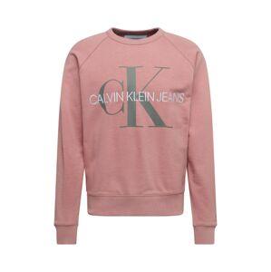 Calvin Klein Jeans Mikina  růžová / šedá / bílá