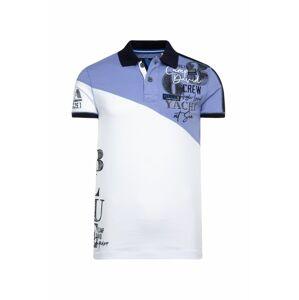 CAMP DAVID Tričko  bílá / fialová