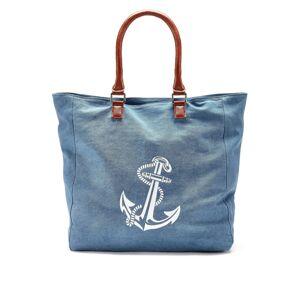 LASCANA Plážová taška  modrá / bílá