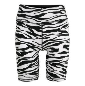 DKNY Sport Sportovní kalhoty 'ZEBRA'  bílá / černá