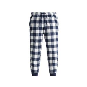 HOLLISTER Pyžamové kalhoty  námořnická modř / bílá