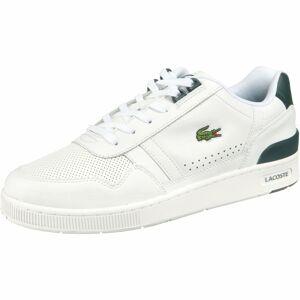 LACOSTE Tenisky  bílá / tmavě zelená