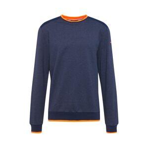 ICEPEAK Sportovní mikina 'COLP'  tmavě modrá / svítivě oranžová