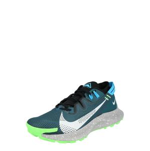 NIKE Běžecká obuv  petrolejová / svítivě zelená / světle šedá