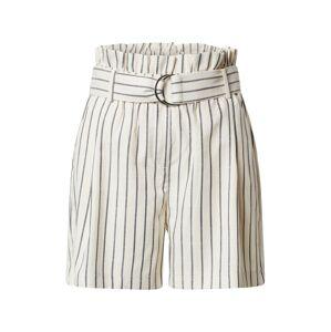 VERO MODA Kalhoty se sklady v pase  námořnická modř / bílá