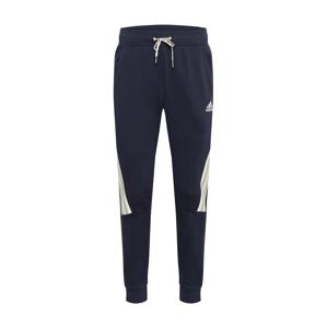 ADIDAS PERFORMANCE Sportovní kalhoty  tmavě modrá / béžová / pastelově zelená