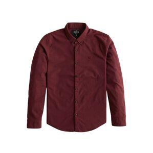 HOLLISTER Společenská košile  burgundská červeň