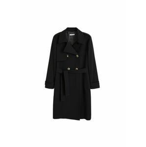 MANGO Přechodný kabát 'Samoa'  černá