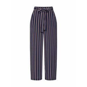 PIECES Kalhoty 'Nellie'  námořnická modř / tmavě oranžová / bílá