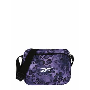 REEBOK Sportovní taška  fialová / černá / bílá