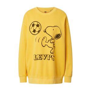 LEVI'S Mikina 'UNBASIC'  žlutá / černá
