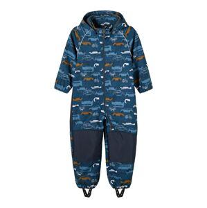 NAME IT Funkční oblek 'Alfa'  námořnická modř / kouřově modrá / šedá / žlutá