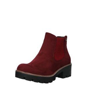 RIEKER Chelsea boty  červená