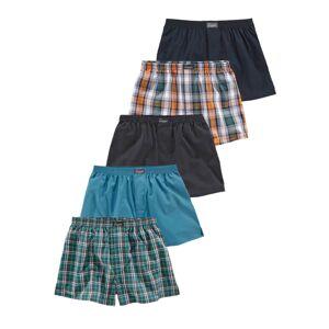 LE JOGGER Boxerky  modrá / šedá / nefritová / oranžová / černá