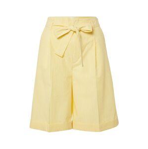 BOSS Kalhoty s puky 'Sarlie'  žlutá / bílá