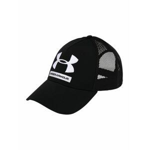 UNDER ARMOUR Sportovní kšiltovka 'Training Trucker'  černá / bílá