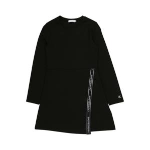 Calvin Klein Jeans Šaty 'PUNTO'  černá / bílá